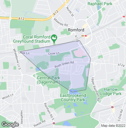 Map of property in Rush Green