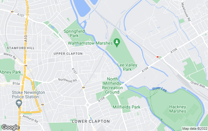Map for AS Estates, Tottenham