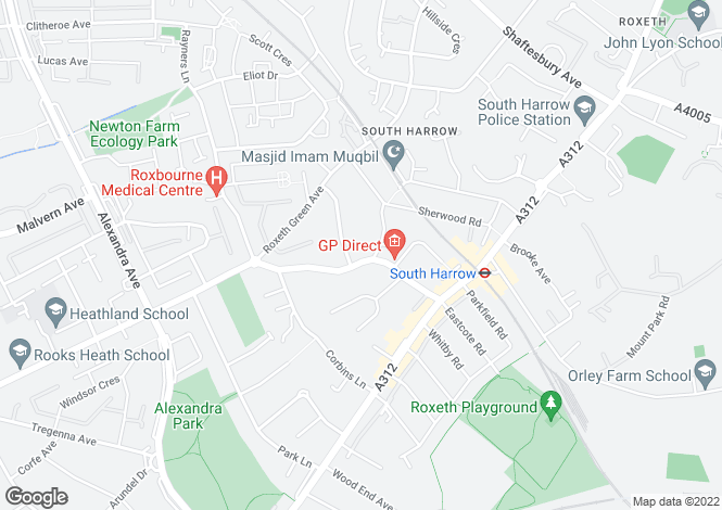 Map for Eastcote Lane, South Harrow, Middx, HA2