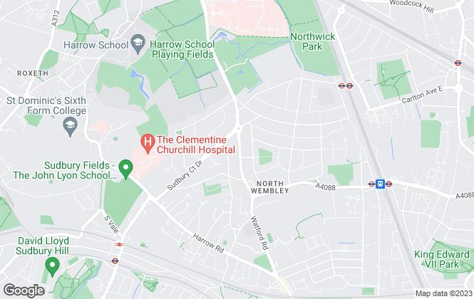 Map for ElliotLee, Harrow