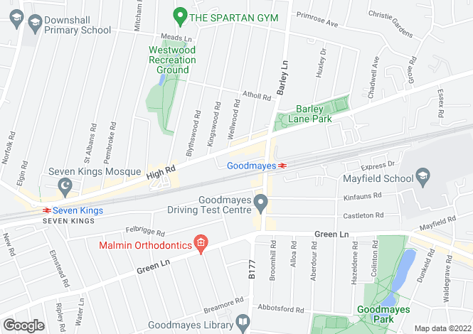 Map for Goodmayes Avenue, Goodmayes, IG3