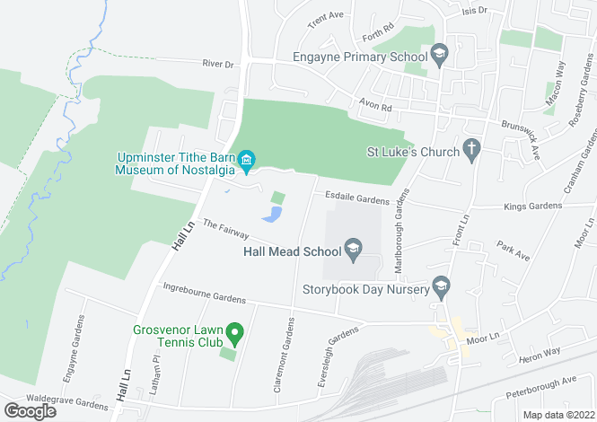 Map for Holden Way, Upminster, Essex, RM14