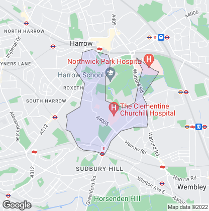 Map of property in Northwick Park