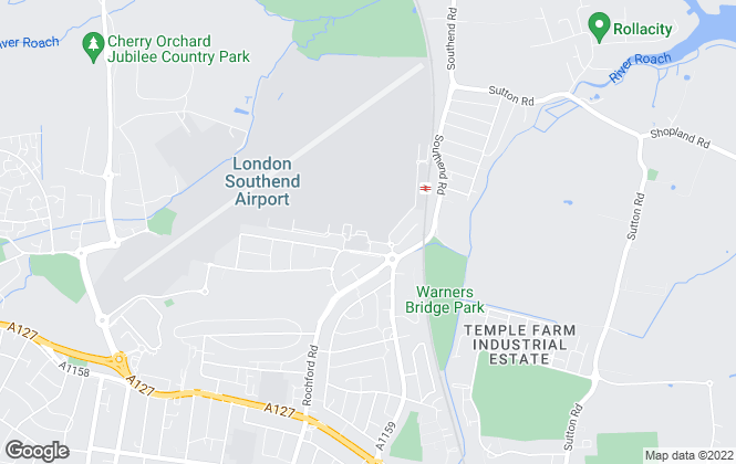 Map for Airport Lettings, Southend