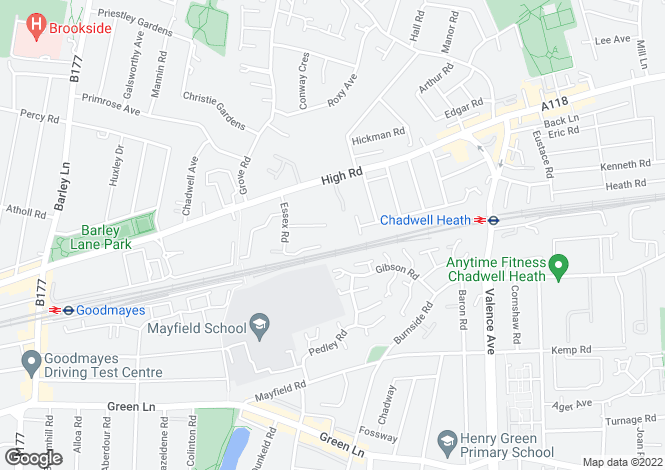 Map for Cross Road, Chadwell Heath