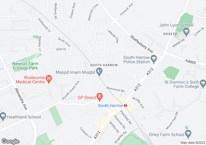 Map for Bridge Court, Stanley Road, Harrow, HA2