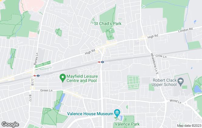 Map for Woodhouse St John, Romford