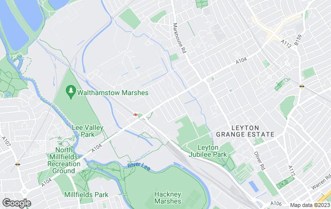 Map for Blackrose Estates, London