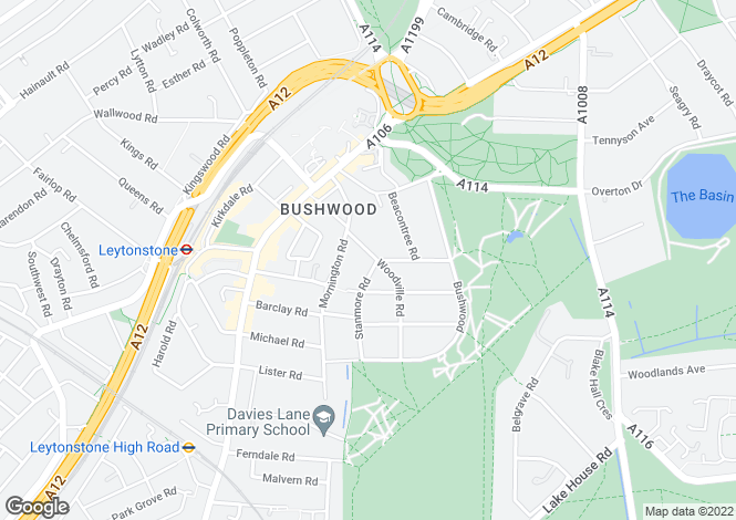 Map for Woodville Road  London