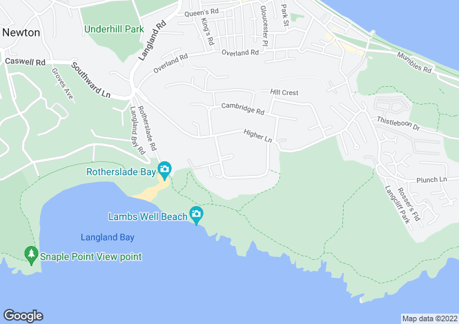 Map for Beaufort Close, Langland, Swansea
