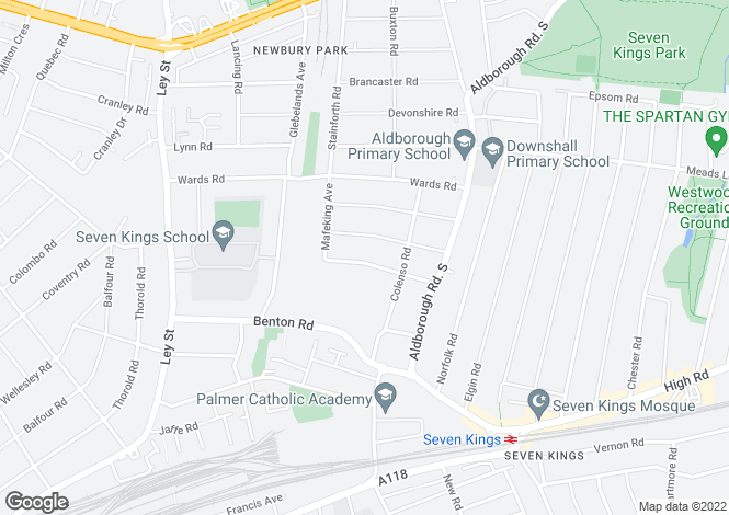 Map for Glencoe Avenue, Sevenkings, Ilford , Essex , IG2 7AN