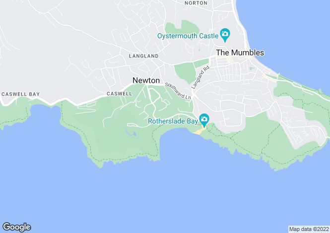 Map for Langland Bay Road,