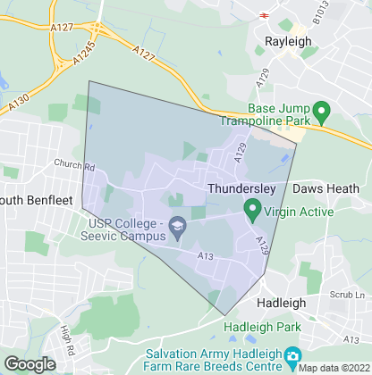 Map of property in Thundersley