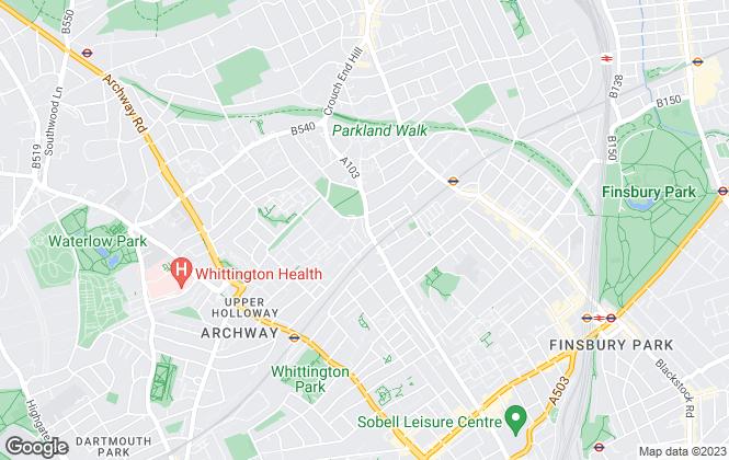 Map for Cavendish Parker, London