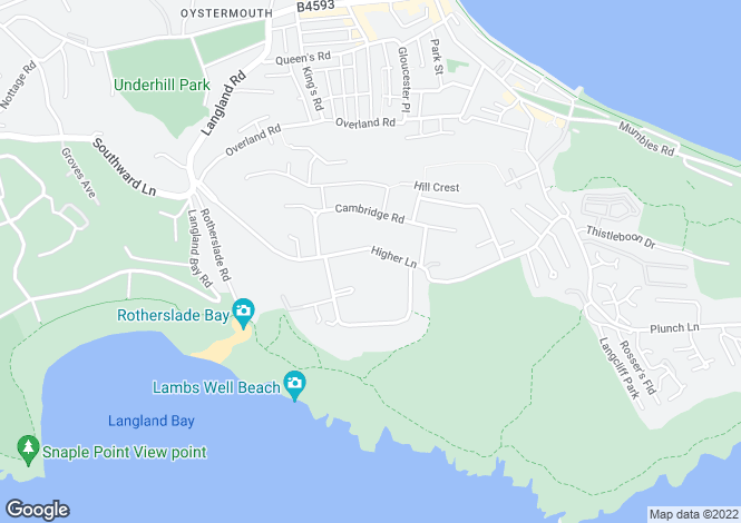 Map for 66 Higher Lane, Langland, Swansea