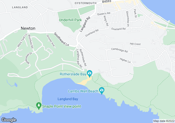 Map for Rotherslade Road,