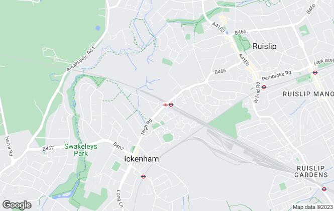 Map for Prestigious Property Ltd, Ruislip