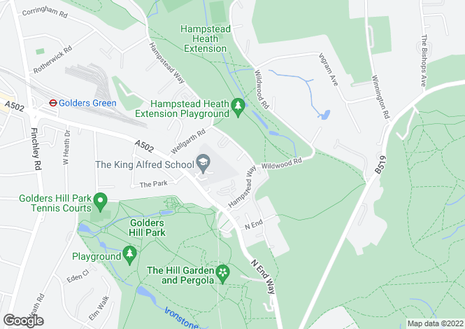 Map for Romney Close, Hampstead Garden Suburb