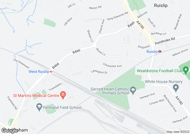 Map for SEAFORD CLOSE,  Ruislip