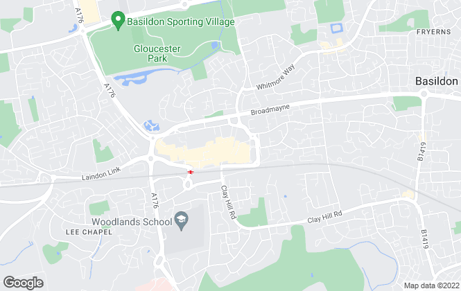Map for Bairstow Eves Lettings, Basildon