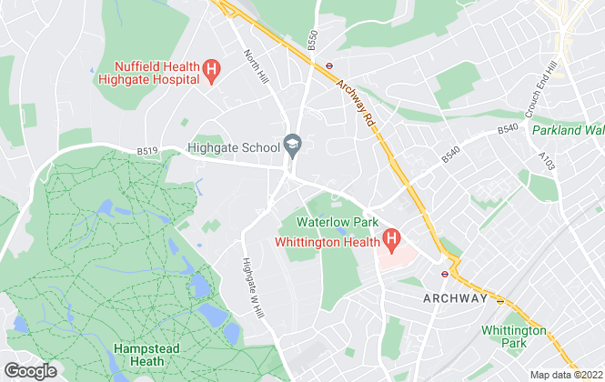 Map for Chancellors, Highgate Lettings