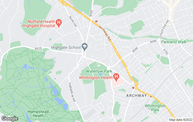 Map for Goldschmidt & Howland, Highgate - Lettings