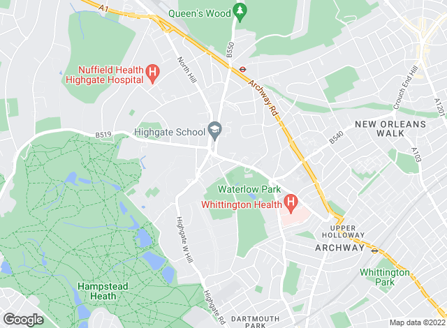 Map for Anscombe & Ringland, Highgate