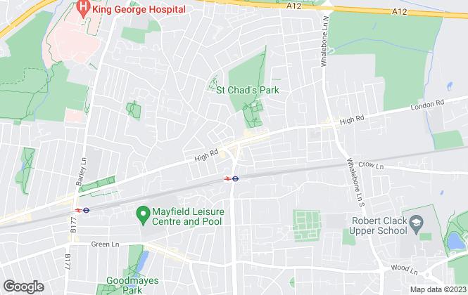 Map for Brian Thomas Estate Agents, Chadwell Heath