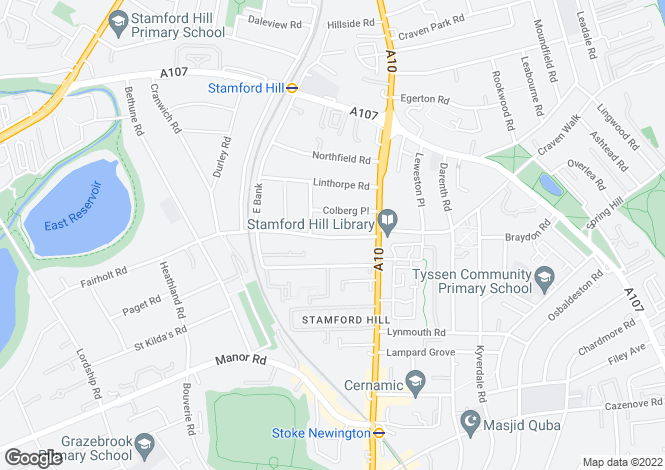 Map for Dunsmure Road, Stoke Newington