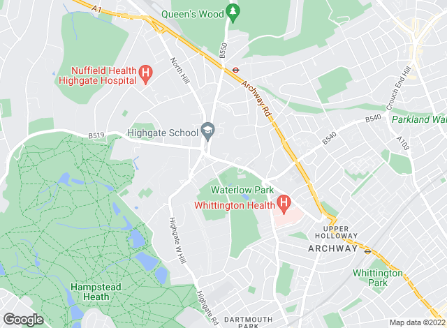 Map for Benham & Reeves , Highgate