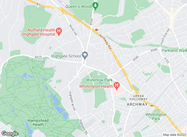 Map for Winkworth, Highgate