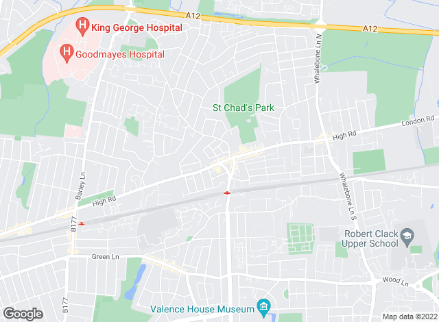 Map for Douglas Allen, Chadwell Heath