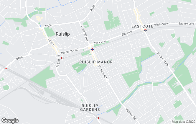 Map for Greenfields Property, Ruislip