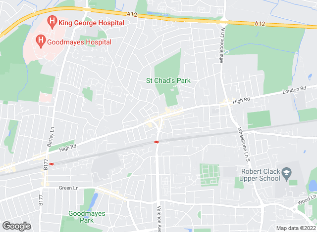 Map for Ashton Estate Agents, Chadwell Heath
