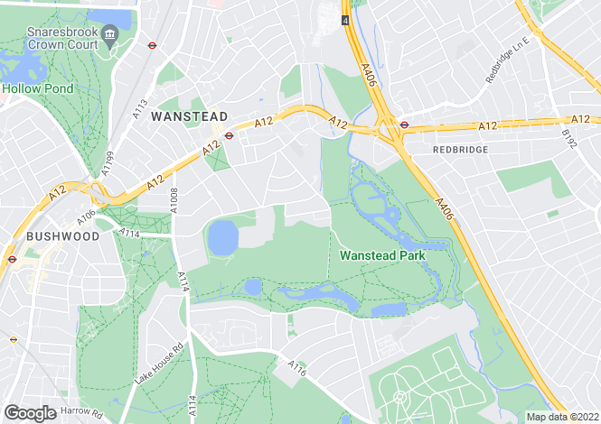 Map for The Warren Drive, Wanstead, E11