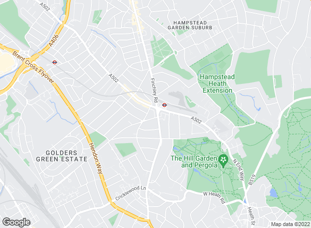 Map for Winkworth, Golders Green