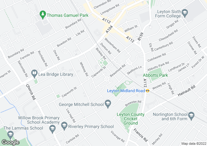 Map for Flat 11 Rose Court