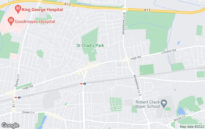 Map for Real Move Estates, Chadwell Heath