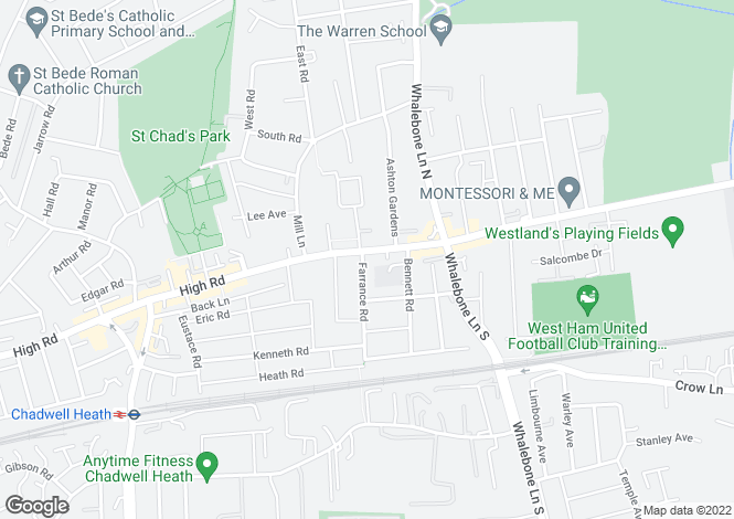 Map for High Road, Chadwell Heath