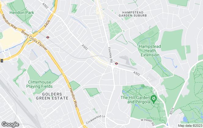 Map for Hausman & Holmes, London - Lettings