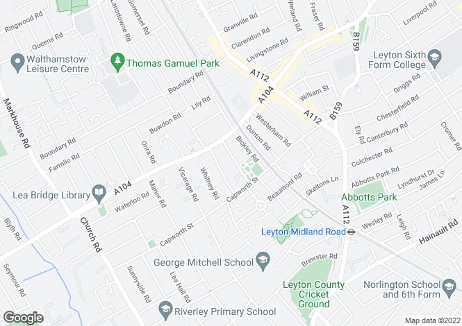 Map for Shortlands Road,