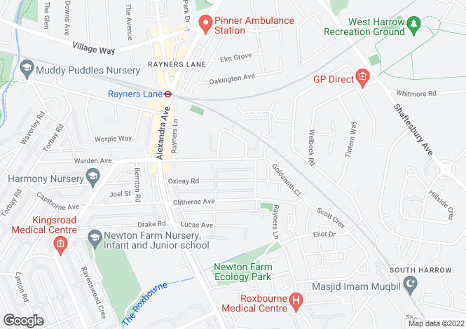 Map for Rayners Lane, Rayners Lane