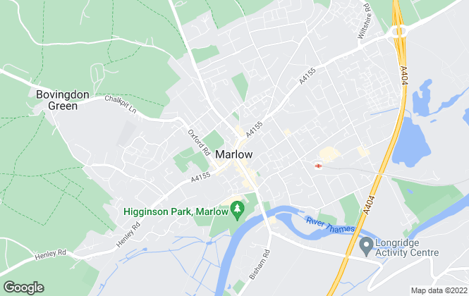 Map for Bonners & Babingtons, Marlow
