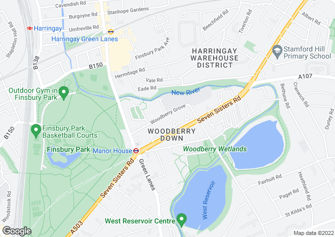 Map for Woodberry Grove, London
