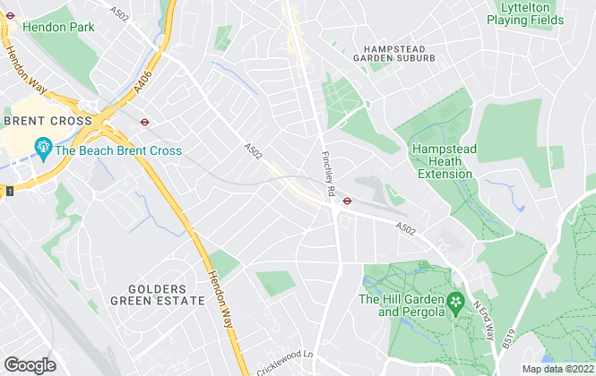 Map for Ellis & Co, Golders Green