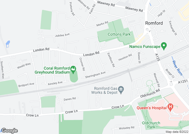 Map for Kensington Road - Romford - RM7