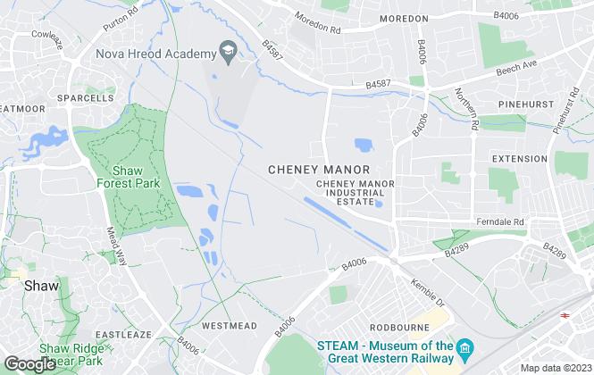 Map for Gatekeeper, Swindon