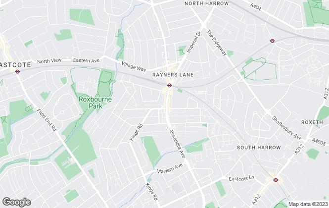 Map for Goran Gates, Harrow