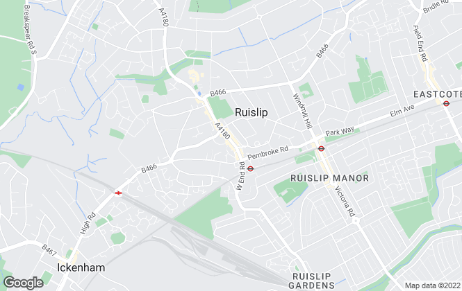 Map for Foxtons, Ruislip