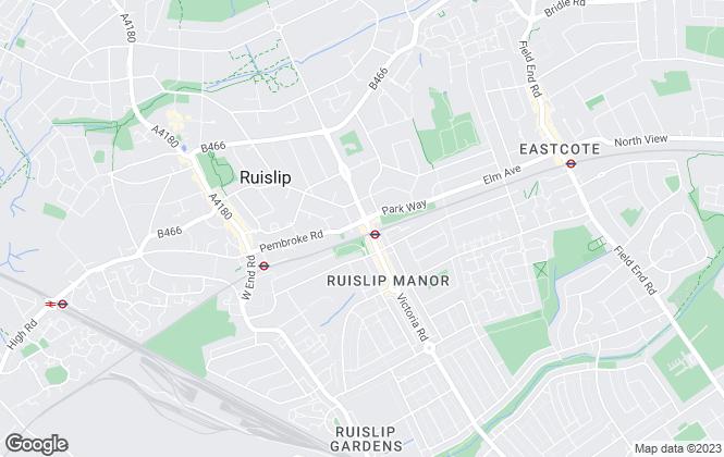 Map for Brick Mortar, Ruislip